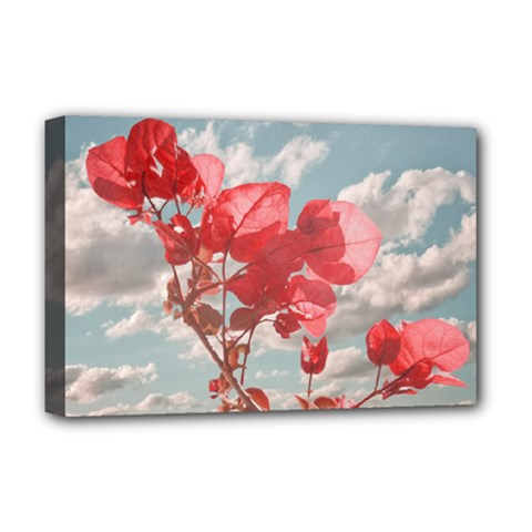 Flowers In The Sky Deluxe Canvas 18  X 12  (framed) by dflcprints