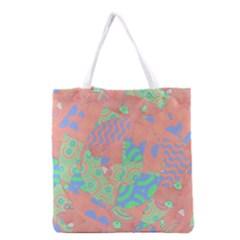 Tropical Summer Fruit Salad Grocery Tote Bag by CrypticFragmentsColors