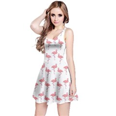 Pink Flamingo Pattern Sleeveless Dress by CrypticFragmentsColors
