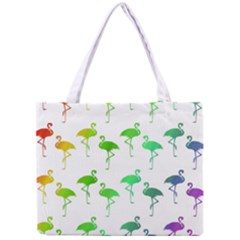 Flamingo Pattern Rainbow  Tiny Tote Bag by CrypticFragmentsColors
