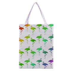 Flamingo Pattern Rainbow  Classic Tote Bag by CrypticFragmentsColors
