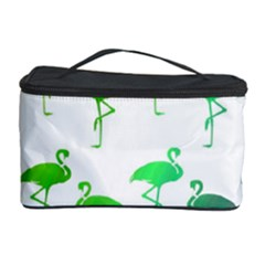 Flamingo Pattern Rainbow  Cosmetic Storage Case by CrypticFragmentsColors