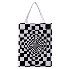 Checkered Flag Race Winner Mosaic Tile Pattern Repeat Classic Tote Bag by CrypticFragmentsColors