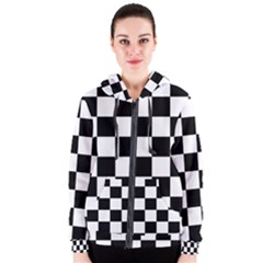 Checkered Flag Race Winner Women s Zipper Hoodie by CrypticFragmentsColors