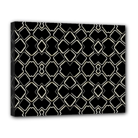 Geometric Abstract Pattern Futuristic Design  Canvas 14  X 11  (framed) by dflcprints