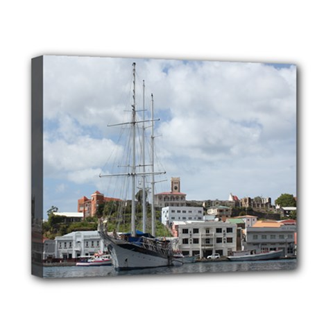 Sailing Boat At Grenada Canvas 10  x 8  (Framed) by stineshop