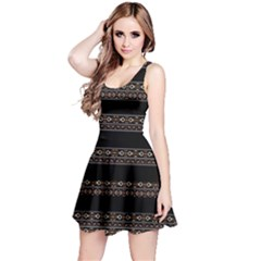 Tribal Dark Geometric Pattern03 Sleeveless Dress by dflcprintsclothing