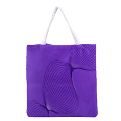Twisted Purple Pain Signals Grocery Tote Bag by FunWithFibro