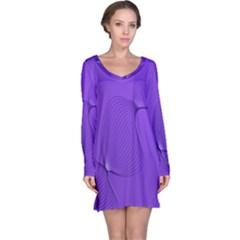 Twisted Purple Pain Signals Long Sleeve Nightdress by FunWithFibro