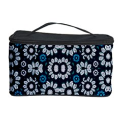 Floral Print Seamless Pattern in Cold Tones  Cosmetic Storage Case by dflcprints
