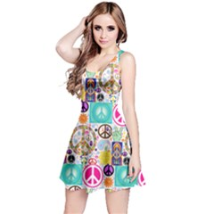 Peace Collage Sleeveless Dress