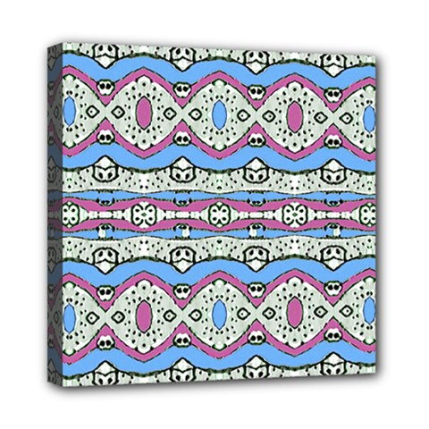 Aztec Style Pattern In Pastel Colors Mini Canvas 8  X 8  (framed) by dflcprints