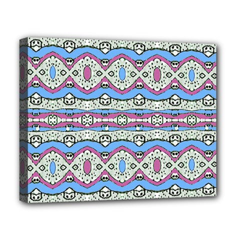Aztec Style Pattern In Pastel Colors Deluxe Canvas 20  X 16  (framed) by dflcprints
