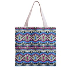 Aztec Style Pattern In Pastel Colors Grocery Tote Bag by dflcprints