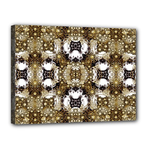 Baroque Ornament Pattern Print Canvas 16  X 12  (framed) by dflcprints