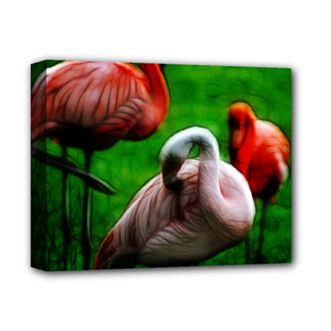 3pinkflamingos Deluxe Canvas 14  x 11  (Framed) by bloomingvinedesign