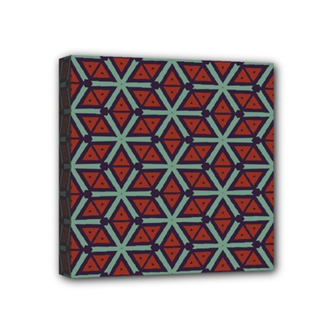 Cubes Pattern Abstract Design Mini Canvas 4  X 4  (stretched) by LalyLauraFLM