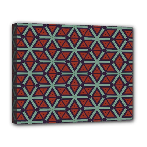 Cubes Pattern Abstract Design Deluxe Canvas 20  X 16  (stretched) by LalyLauraFLM