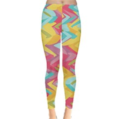 Paint strokes abstract design Leggings  by LalyLauraFLM