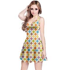 Colorful Rhombus Pattern Sleeveless Dress by LalyLauraFLM
