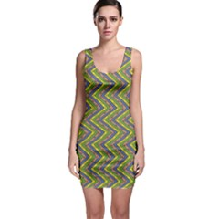 Zig zag pattern Bodycon Dress by LalyLauraFLM