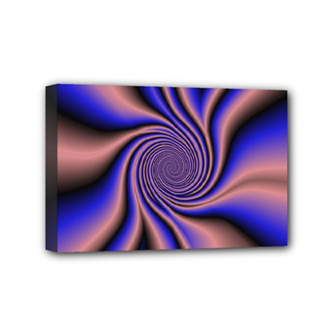 Purple Blue Swirl Mini Canvas 6  X 4  (stretched) by LalyLauraFLM