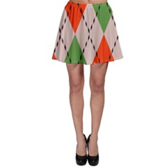 Argyle Pattern Abstract Design Skater Skirt by LalyLauraFLM