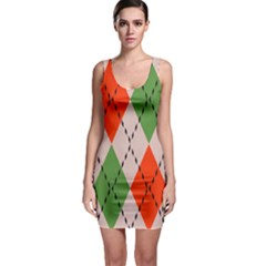 Argyle Pattern Abstract Design Bodycon Dress by LalyLauraFLM