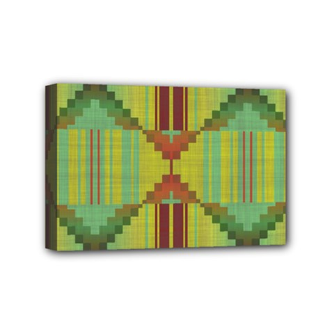 Tribal Shapes Mini Canvas 6  X 4  (stretched) by LalyLauraFLM