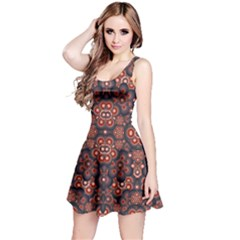 Modern Floral Decorative Sleeveless Dress by dflcprintsclothing