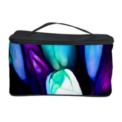 Abstract Purple Tulips Cosmetic Storage Case by bloomingvinedesign