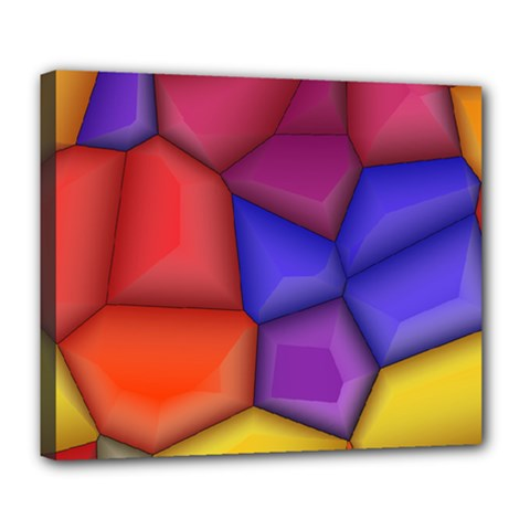 3d Colorful Shapes Deluxe Canvas 24  X 20  (stretched) by LalyLauraFLM