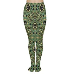 Luxury Abstract Golden Grunge Art Tights by dflcprintsclothing