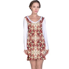 Floral Geometric Collage Long Sleeve Nightdress by dflcprintsclothing