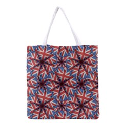 Heart Shaped England Flag Pattern Design Grocery Tote Bag