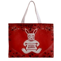 Cute Bunny Happy Easter Drawing Illustration Design Tiny Tote Bag by dflcprints