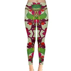 Floral Print Colorful Pattern Leggings  by dflcprintsclothing