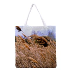 Blowing Prairie Grass Grocery Tote Bag by bloomingvinedesign