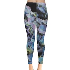 Blue And Purple Hydrangea Group Leggings  by bloomingvinedesign