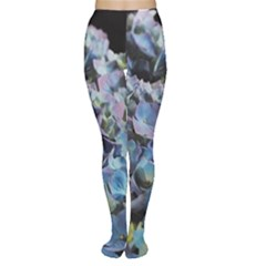 Blue And Purple Hydrangea Group Tights by bloomingvinedesign