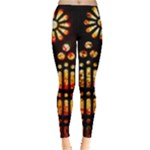gaudi stained glass orange-yellow - Leggings