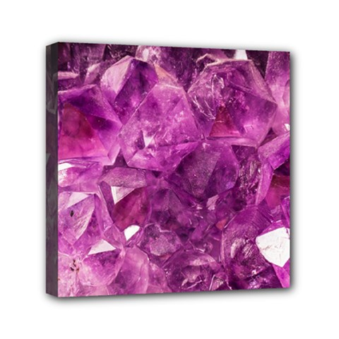 Amethyst Stone Of Healing Mini Canvas 6  X 6  (framed) by FunWithFibro