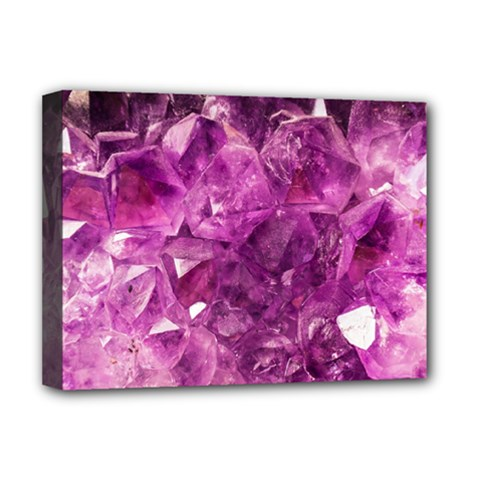 Amethyst Stone Of Healing Deluxe Canvas 16  X 12  (framed)  by FunWithFibro