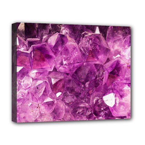 Amethyst Stone Of Healing Deluxe Canvas 20  X 16  (framed) by FunWithFibro