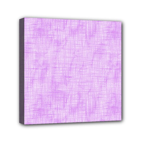 Hidden Pain In Purple Mini Canvas 6  X 6  (framed) by FunWithFibro