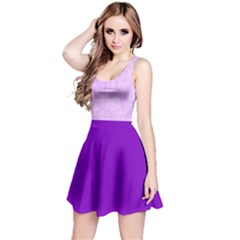 Hidden Pain In Purple Sleeveless Dress by FunWithFibro