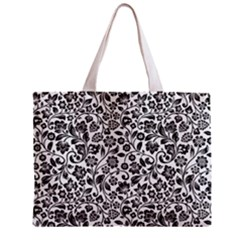 Elegant Glittery Floral Tiny Tote Bag by StuffOrSomething