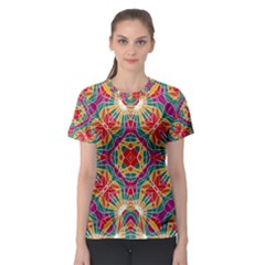 Multicolor Geometric Print Women s Sport Mesh Tee by dflcprintsclothing