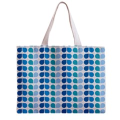 Blue Green Leaf Pattern Tiny Tote Bag by creativemom