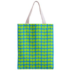 Blue Lime Leaf Pattern Classic Tote Bag by creativemom